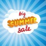 超级夏天销售传染媒介贴纸 免版税库存照片