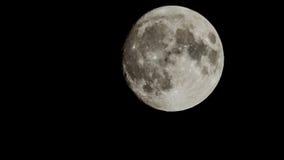 超级大月亮有黑背景 免版税库存图片