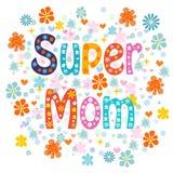 超级妈妈装饰字法类型母亲节 库存照片