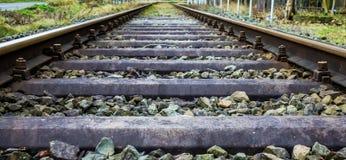 超级宽铁路 库存图片
