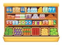 超级市场。 免版税库存照片