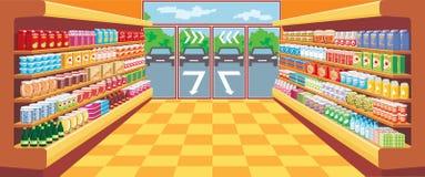 超级市场。 库存图片