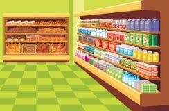 超级市场。 免版税库存图片