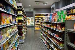 超级市场内部 库存照片