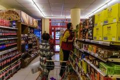 超级市场内部 免版税库存图片