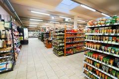 超级市场内部 免版税图库摄影