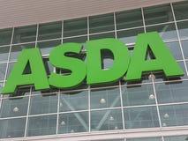 超级市场巨型ASDA 免版税库存照片