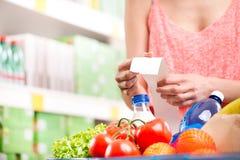 超级市场收据 免版税库存图片