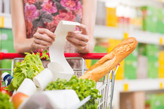 超级市场收据 免版税库存照片