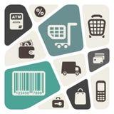 超级市场服务设计 免版税库存照片