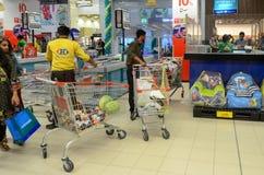 超级市场检查 免版税库存图片
