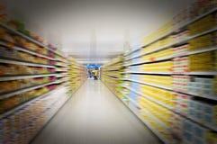 超级市场视图 免版税库存照片