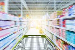 超级市场走道香港 免版税图库摄影