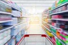 超级市场走道香港 库存图片