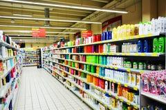 超级市场,户内 免版税库存图片