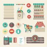 超级市场 库存例证