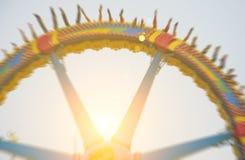 超级摆锤在游乐园 免版税库存照片