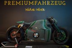 超级摩托车莲花C-01,设计由丹尼尔西蒙, 2014年 免版税库存图片