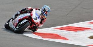 超级摩托车赛跑Ducati卡洛斯Checa的队蜀癸属植物 库存图片