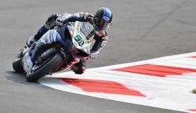超级摩托车队山叶世界超级摩托车尤金Laverty 免版税图库摄影