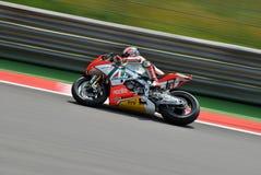 超级摩托车队Aprilia赛跑Max比亚吉的意大利航空 库存照片