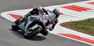 超级摩托车队BMW Motorrad意大利詹姆斯Toseland 免版税库存图片
