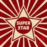 超级星横幅 库存照片