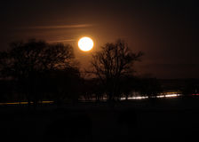 超级月亮上升 库存照片