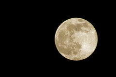 超级月亮 免版税库存照片