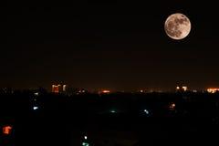 超级月亮 免版税图库摄影