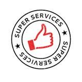 超级服务不加考虑表赞同的人 免版税库存图片
