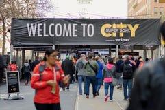 超级杯市50入口在旧金山 免版税库存照片