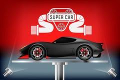 超级汽车现实设计观念 库存图片