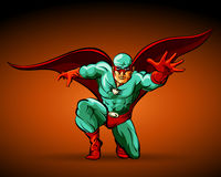 超级漫画人物逗人喜爱的英雄 图库摄影