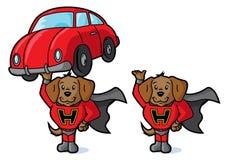 超级狗和汽车 库存照片