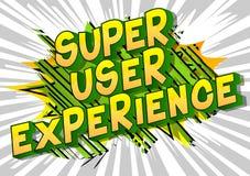 超级用户经验-漫画样式词 皇族释放例证