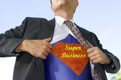 超级的生意人 免版税库存照片