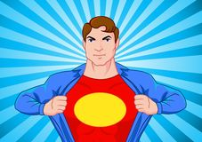 超级的英雄 库存图片