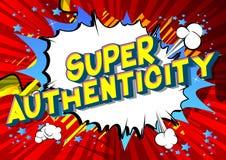 超级真实性-传染媒介被说明的漫画样式词组 库存例证