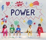 超级英雄哄骗想象力力量帮手概念 免版税库存照片