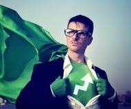 超级英雄商人发展概念 库存图片