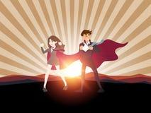 超级英雄商人概念 例证 库存图片