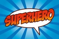超级英雄商标,流行艺术背景 图库摄影