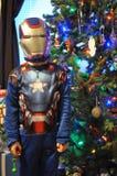 超级英雄圣诞节 库存图片