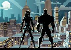 超级英雄夫妇除夕2 皇族释放例证