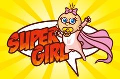 超级英雄女婴 库存照片