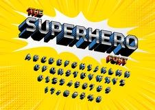 超级英雄字体 库存例证