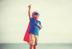 超级英雄孩子 免版税库存图片