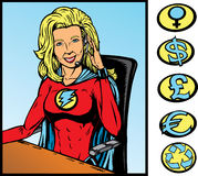 超级英雄技术支持 库存图片