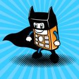 超级英雄智能手机例证 免版税库存图片